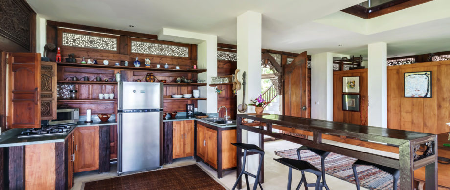 Kitchen and utilities available at Villa Joglo at Citakara Sari Estate