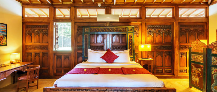 Luxurious bedroom for Balinese vacation in Villa Saraswati at Citakara Sari Estate