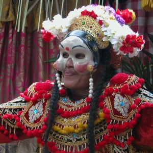 Balinese dancer from the Citakara Sari Estate cultural immersion program