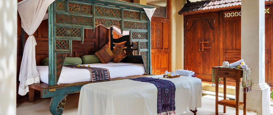 Enjoy a relaxing massage while vacationing in Bali at Villa Joglo at Citakara Sari Estate