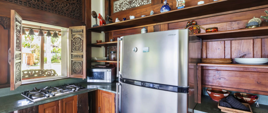 Kitchen at Villa Joglo at Citakara Sari Estate