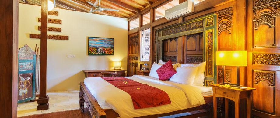 Luxurious bedroom for Balinese vacation in Villa Saraswati at Citakara Sari Estate