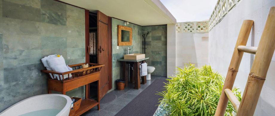 Private sunlit bathing area in Villa Yoga Bale at Citakara Sari Estate in Bali